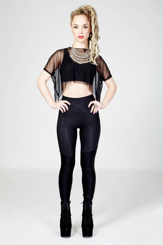 Image of KAI Leggings in MATTE BLACK/FOILED BLACK
