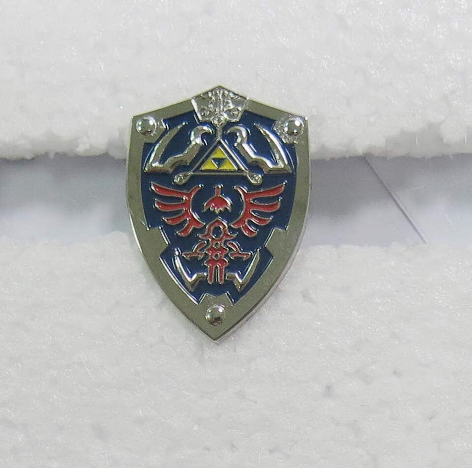 Image of Zelda Triforce Shield Lapel Pin