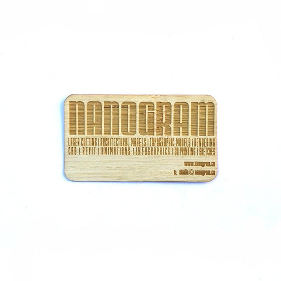 Image of 100 Laser Cut Wood Business Cards