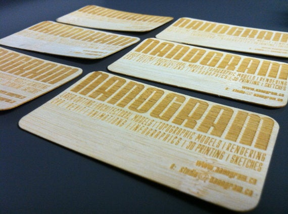 100 laser cut wood business cards nanogram image of 100 laser cut wood business cards colourmoves