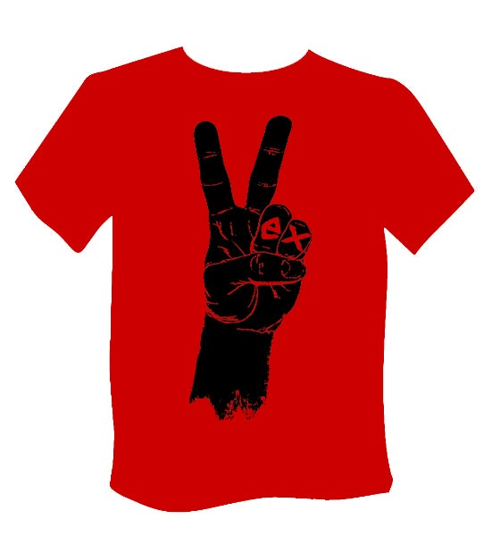 Image of Red T-Shirt Hand Print