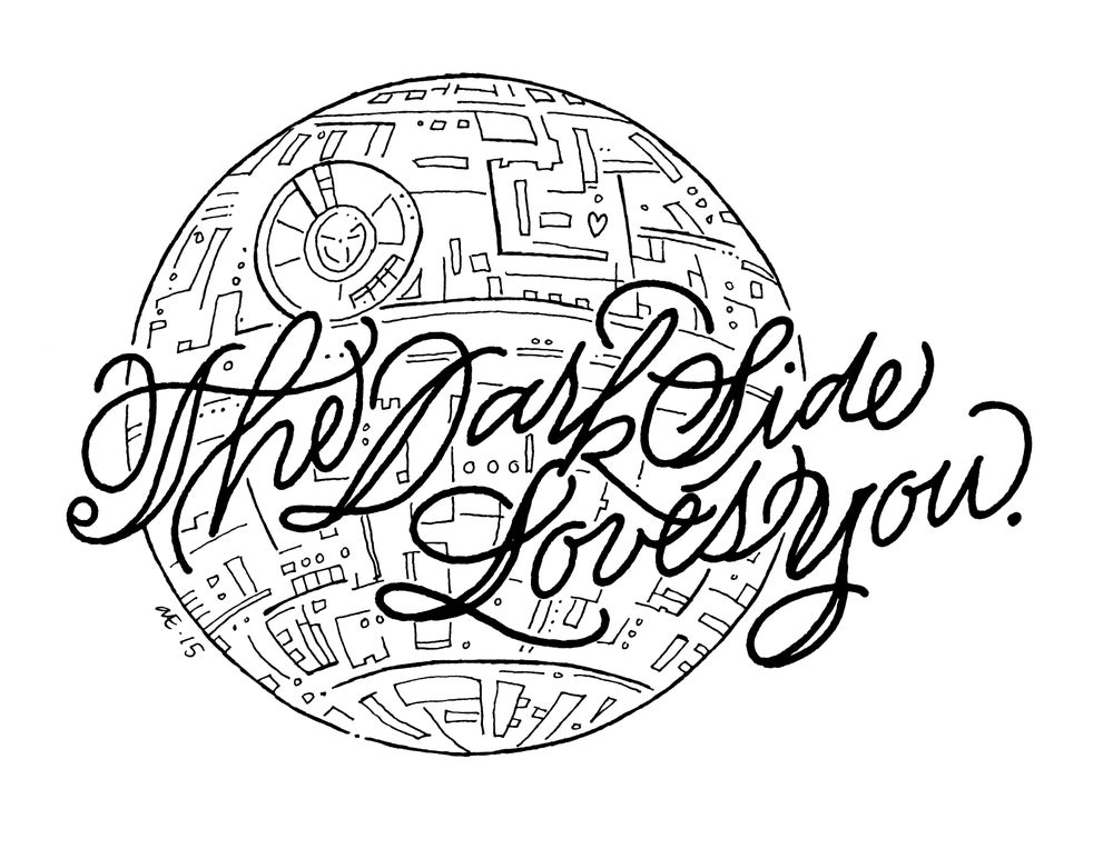 Image of Dark Side Valentine's Day Card