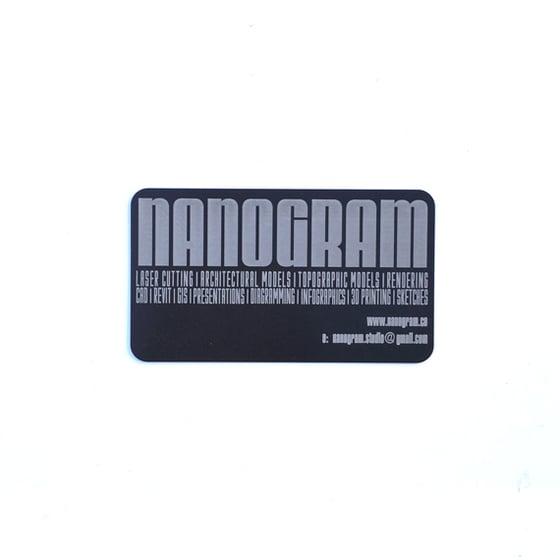 Image of 100 Laser Engraved Black Aluminum Business Cards