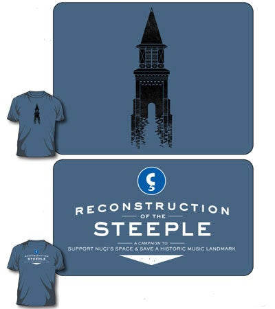 Image of Steeple Reconstruction Campaign T-shirt