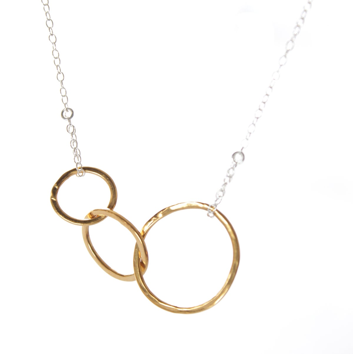 Image of Interlocking loops gold necklace