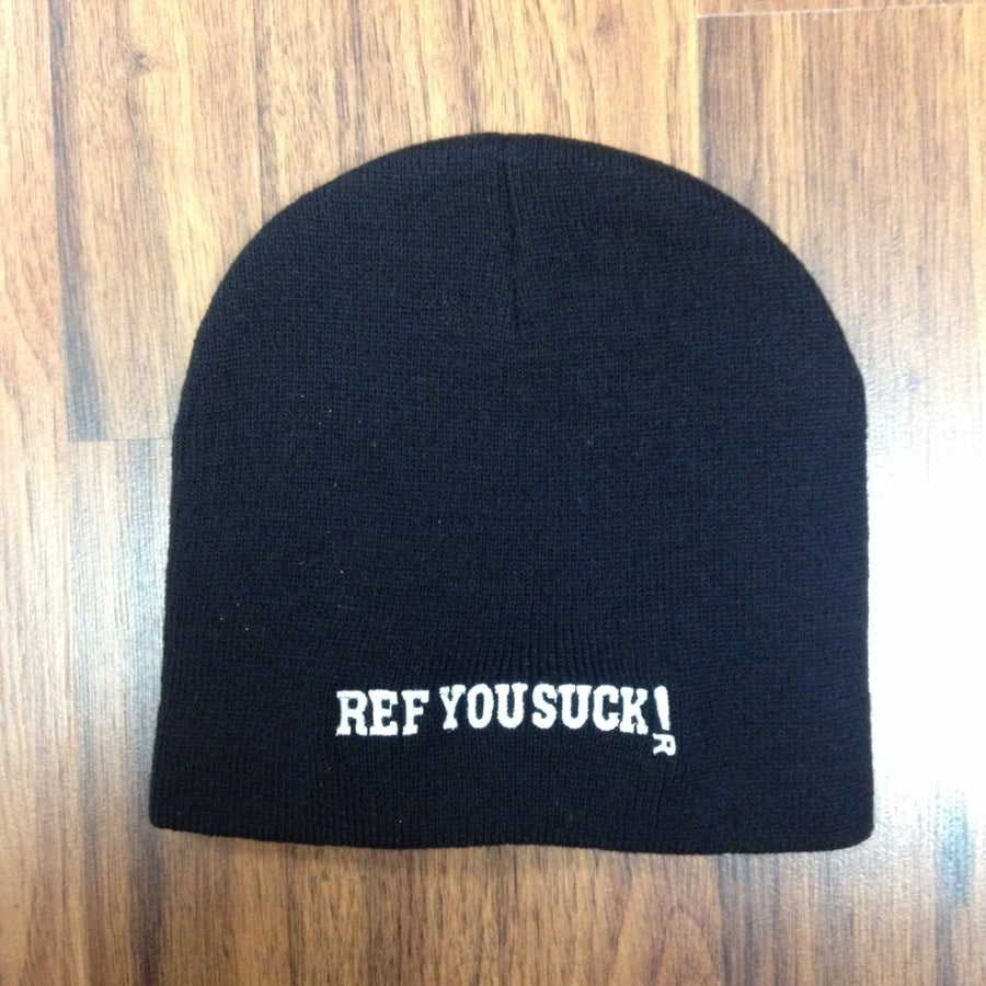 Image of Ref You Suck! beanie/toque