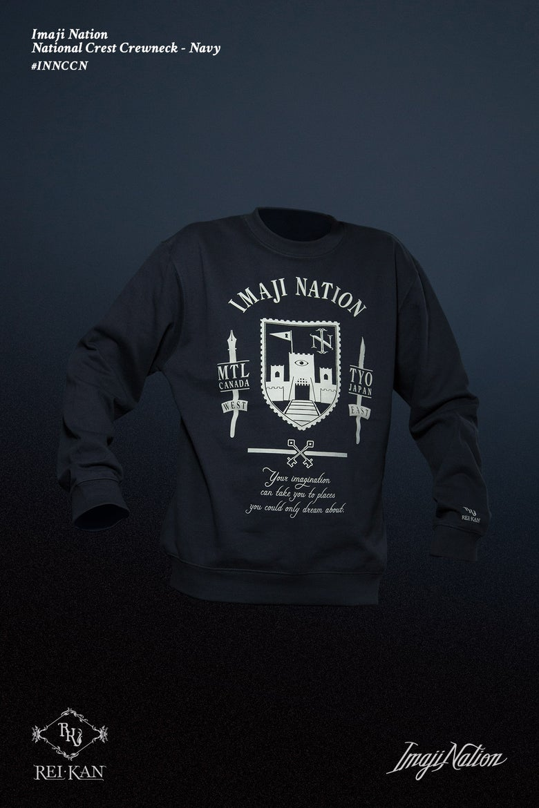 Image of Imaji Nation National Crest Crewneck