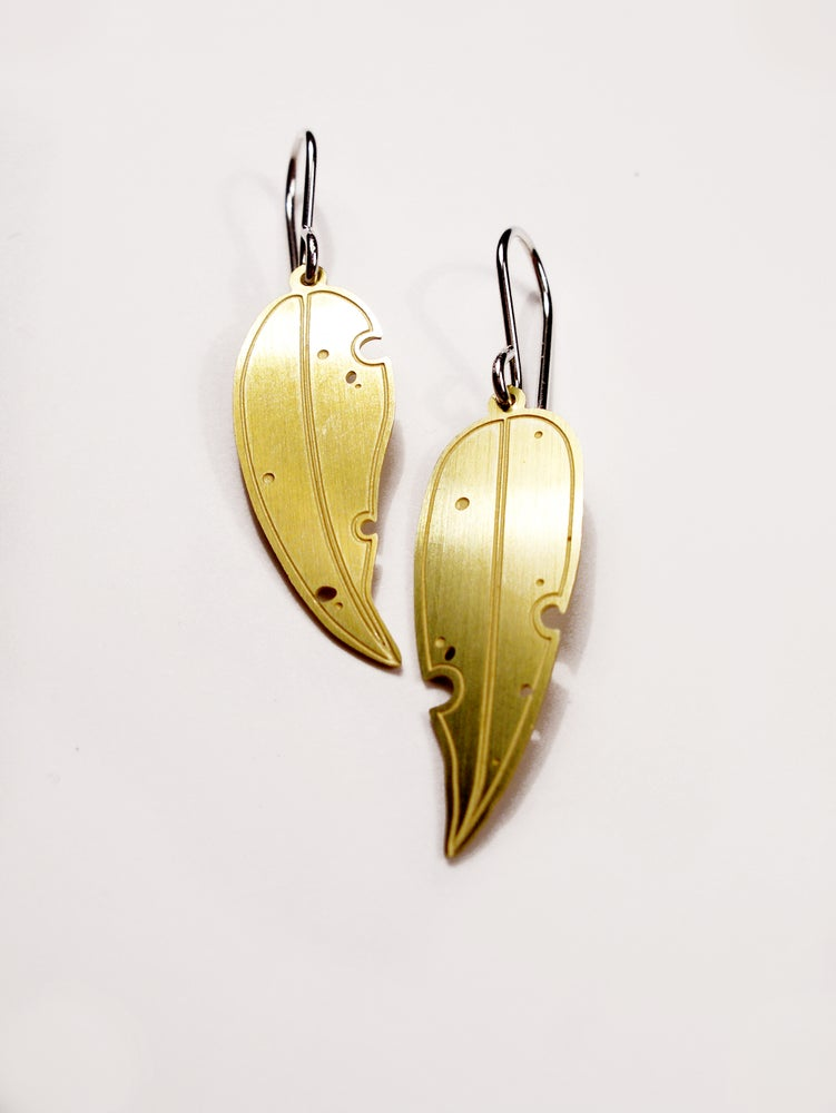 Image of LEAF EARRING: EUCALYPTUS (BRASS)