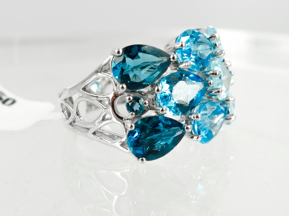 Image of Blue topaz cocktail ring