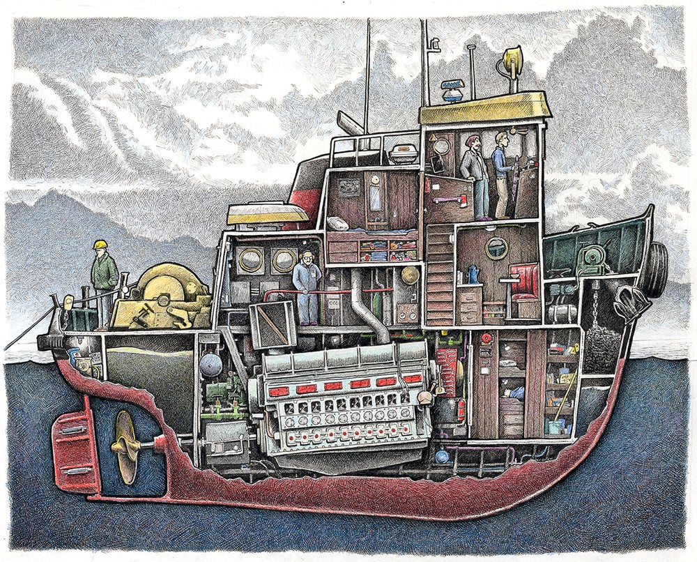 "Image of Tug No. 2, 12"" x 15"""