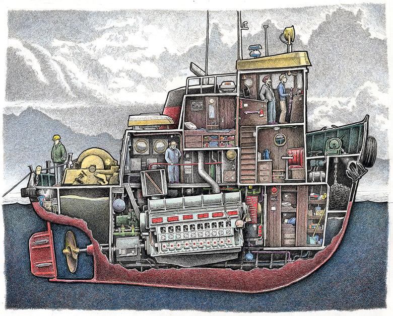 """Image of Tug No. 2, 12"""" x 15"""""""