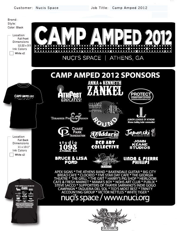 Image of 2012 Camp Amped T-shirt: GA Theatre
