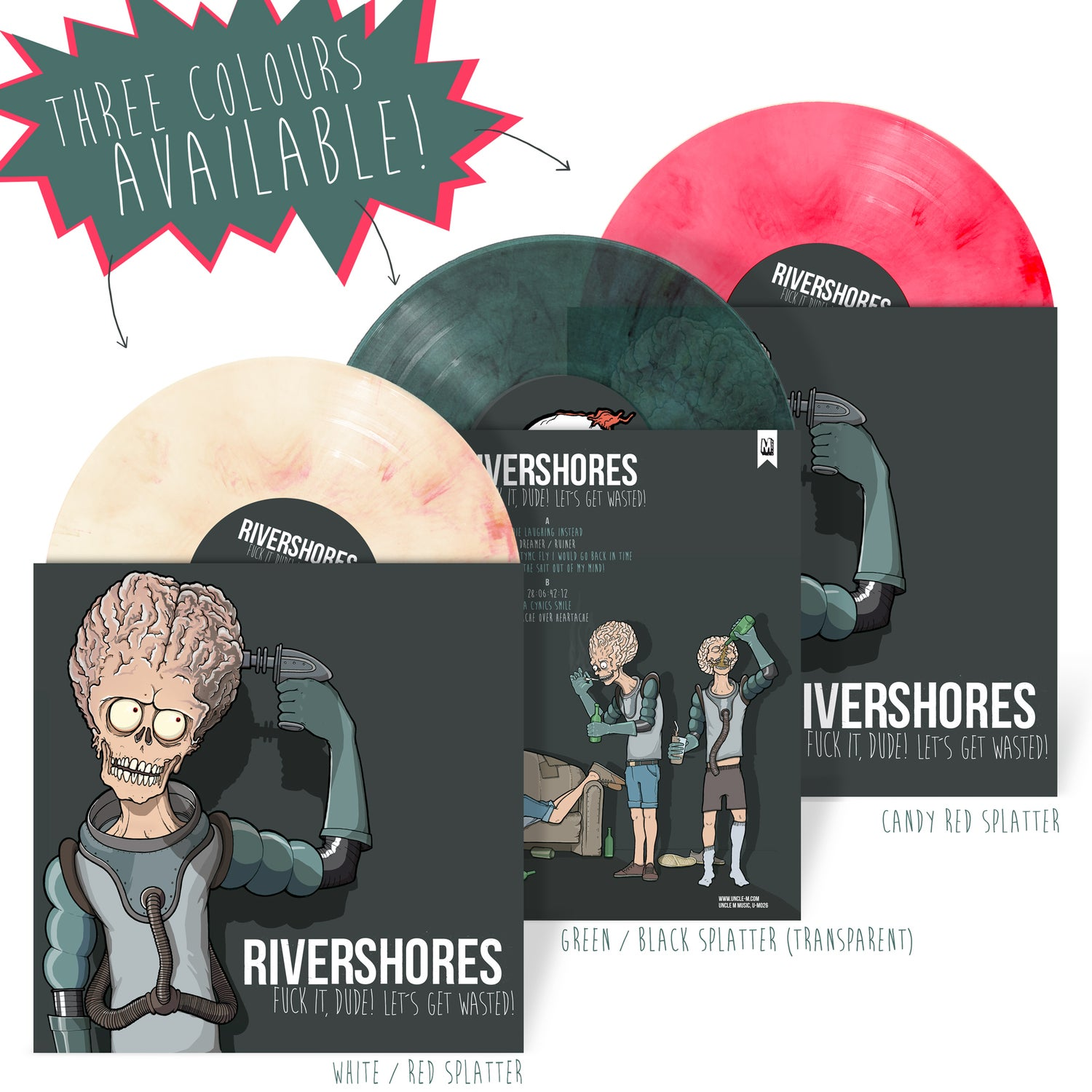 """Image of """"Fuck it, dude! Let's get wasted!"""" 10'' Vinyl"""
