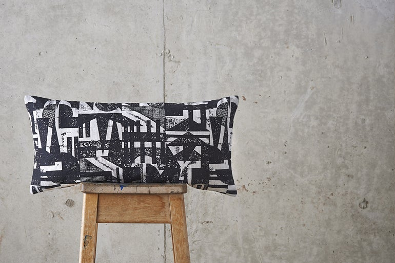 Image of 'Collagraph' Repeat Cushion