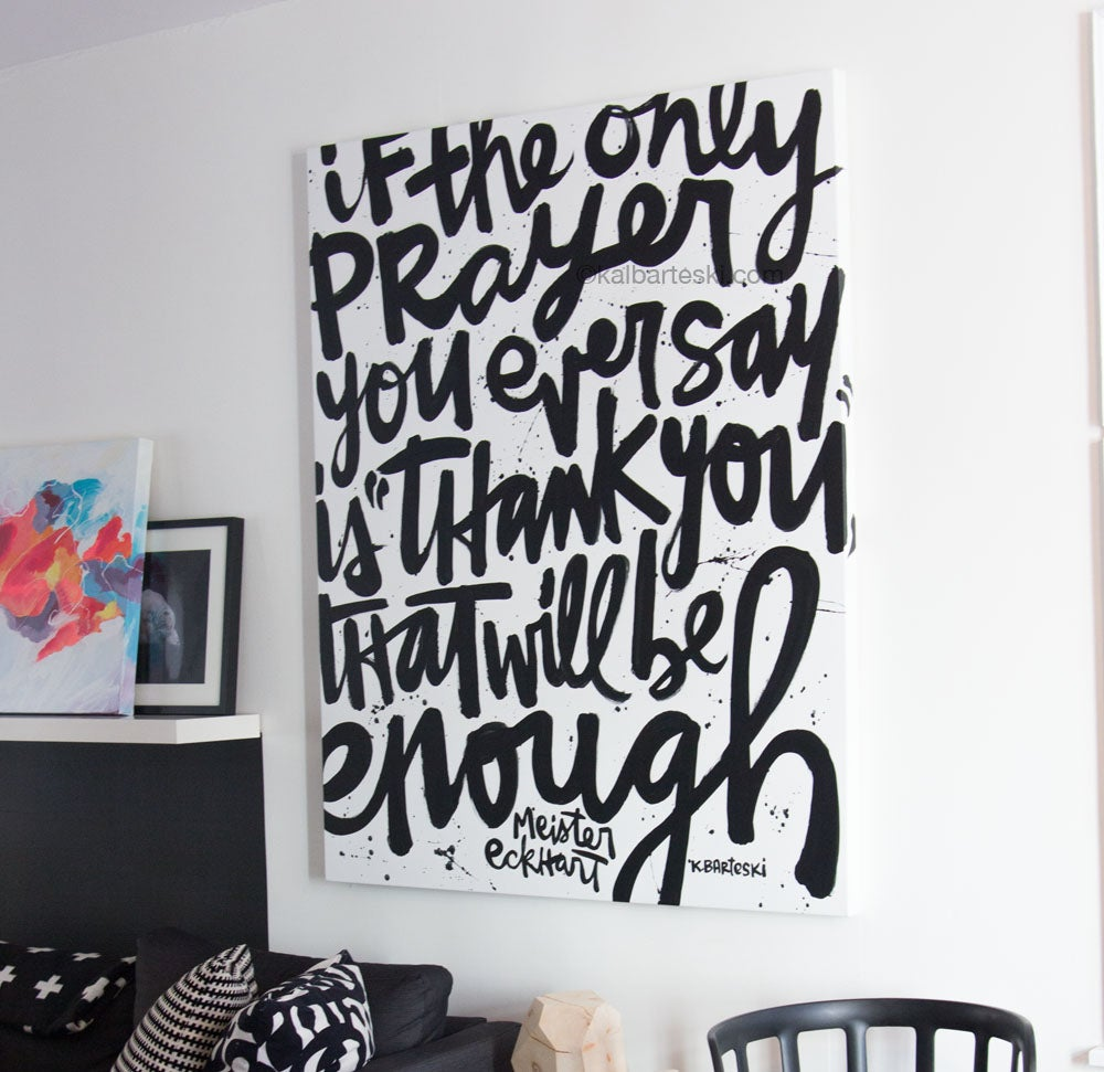 Image of IF THE ONLY PRAYER painting