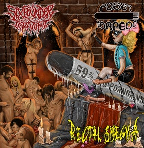 """Image of 3 way split - """"69% of PORNGRIND"""" - SIXPOUNDER TERATOMA / RECTAL SMEGMA / PUSSY TORPEDOCD OUT NOW"""