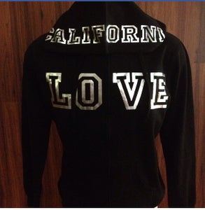 Image of Ladies - California Love Zip up hoody Silver