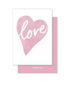 Image of Greeting Card - Love Heart - Dusky Pink