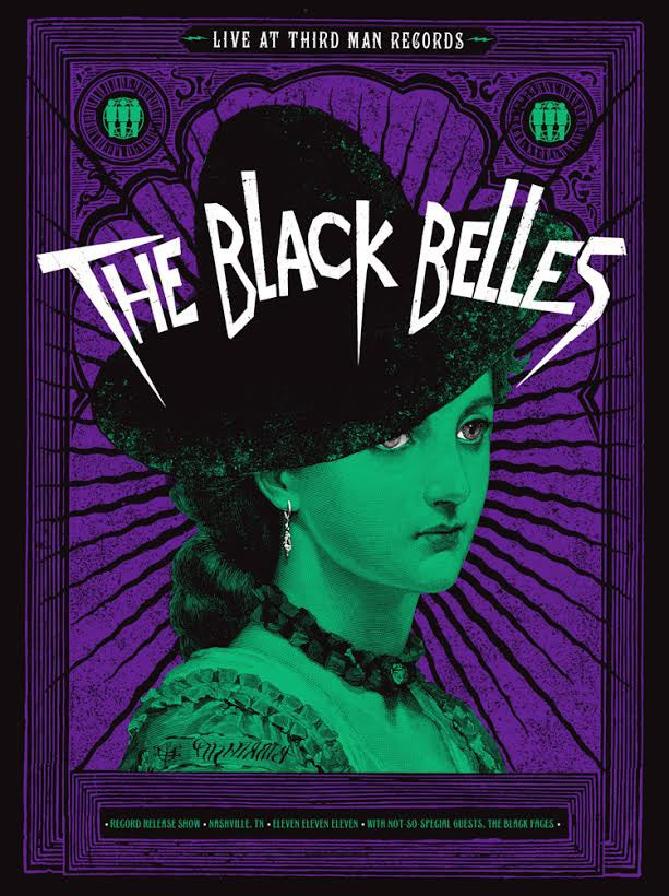 "Image of The Black Belles ""Blacklight Poster"""
