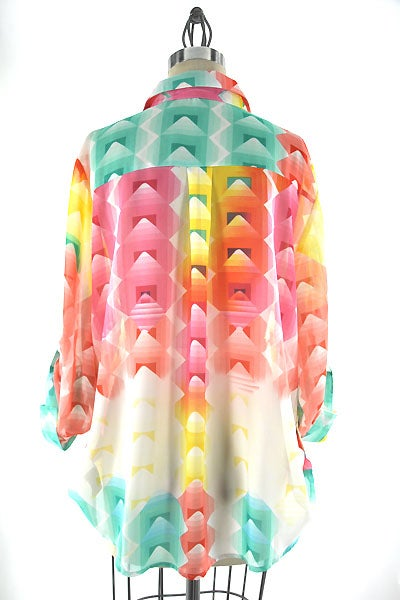 Image of Tropical Oversized Top