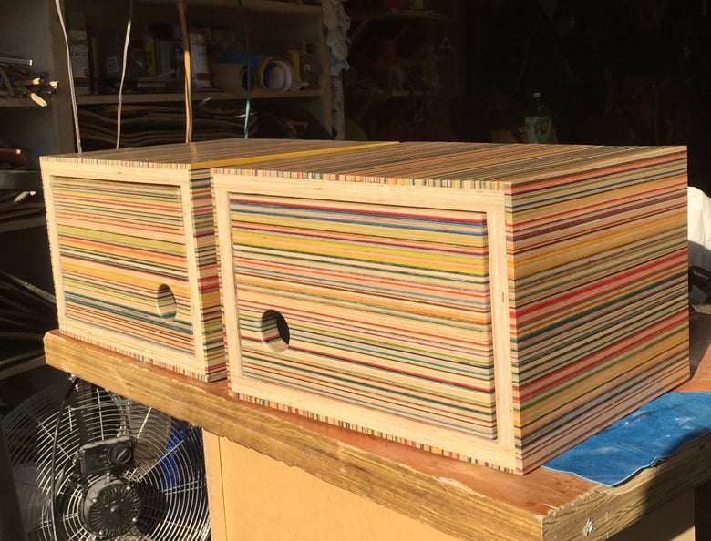 Image of Recycled Skateboard Cabinets (made to order)