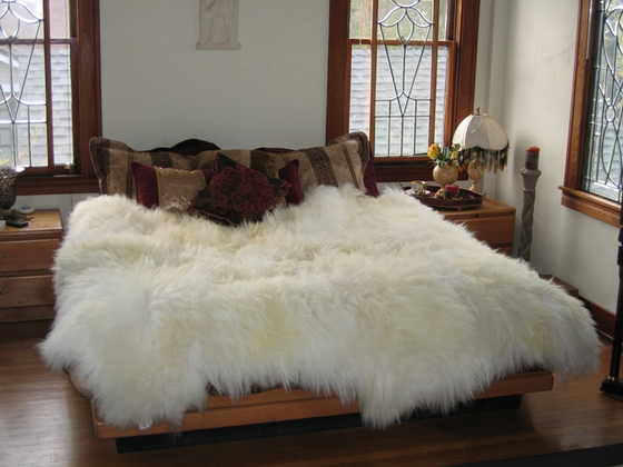 Image of LUXURY NATURAL SHEEPSKIN OVERLAY OR RUG 5 SIZES
