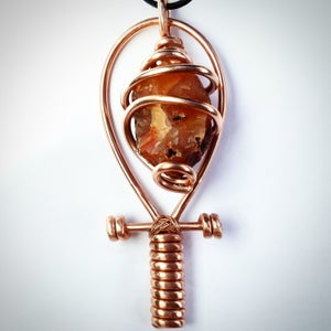 Image of Fully Wrapped Carnelian Ankh