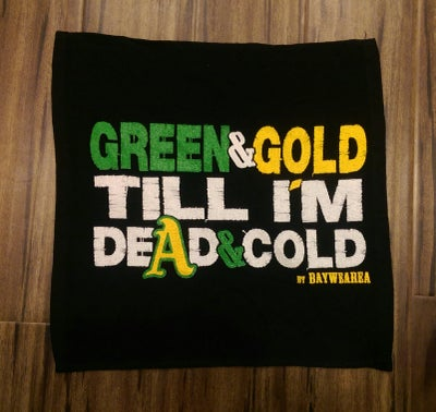 Image of Green and Gold Till I'm Dead and Cold Rally Towel