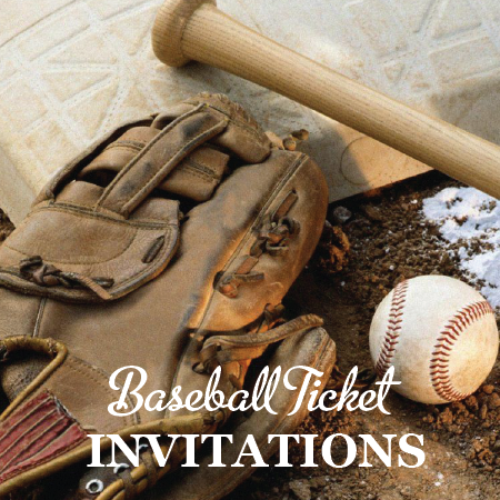 Image of Baseball Ticket Invitations