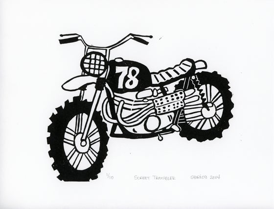 Image of Screet Trambler Block Print