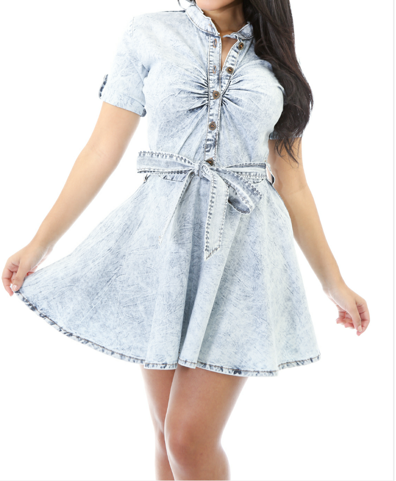 Image of Dress Me Up Denim Dress