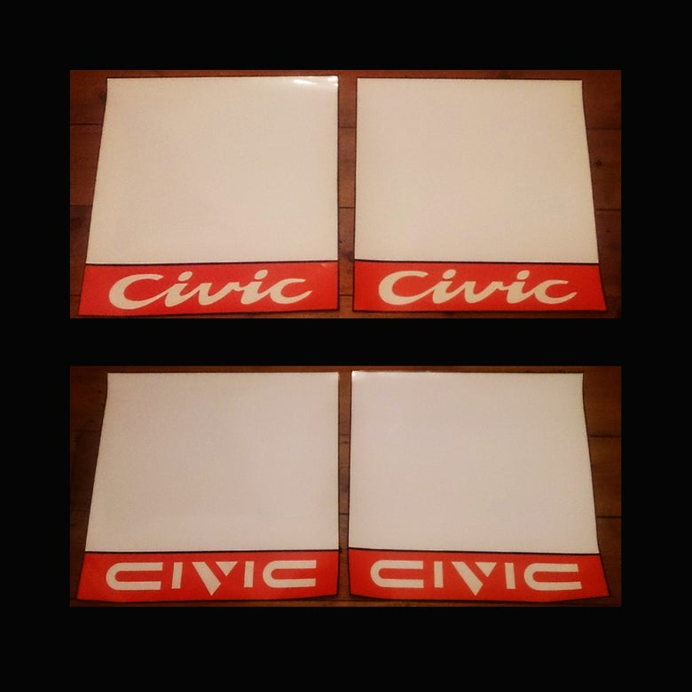 Image of Kanjo Race Number Boards - Civic
