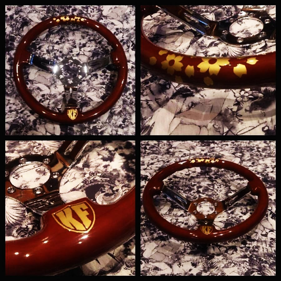 Image of 'Cherry Wood' Deep Dish Steering Wheel