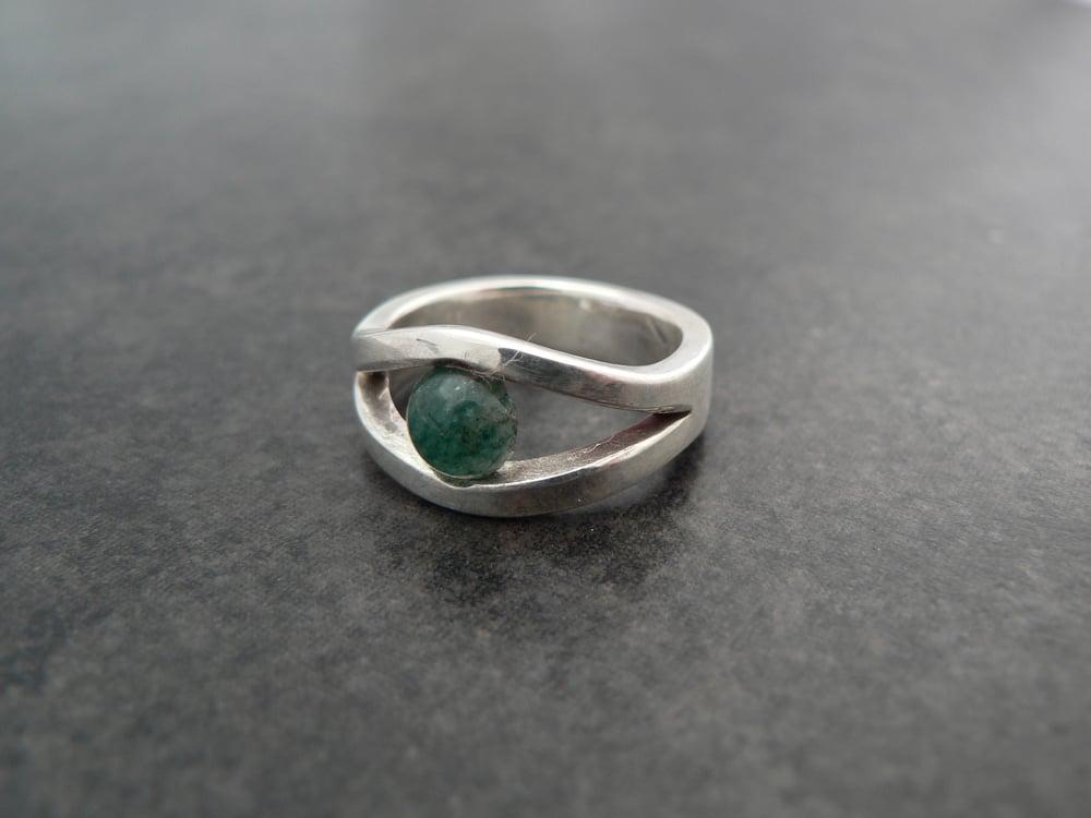 """Image of Aventurine """"eye"""" ring"""