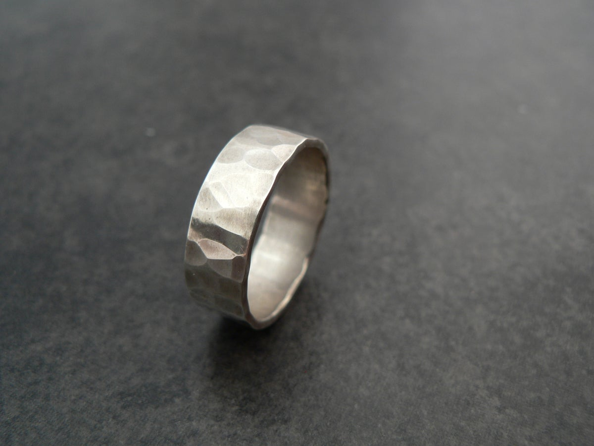 Image of Hammered Band Ring - plain