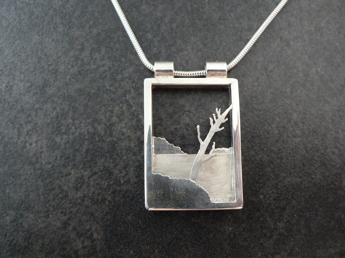 Image of Island with Tree - shadow box