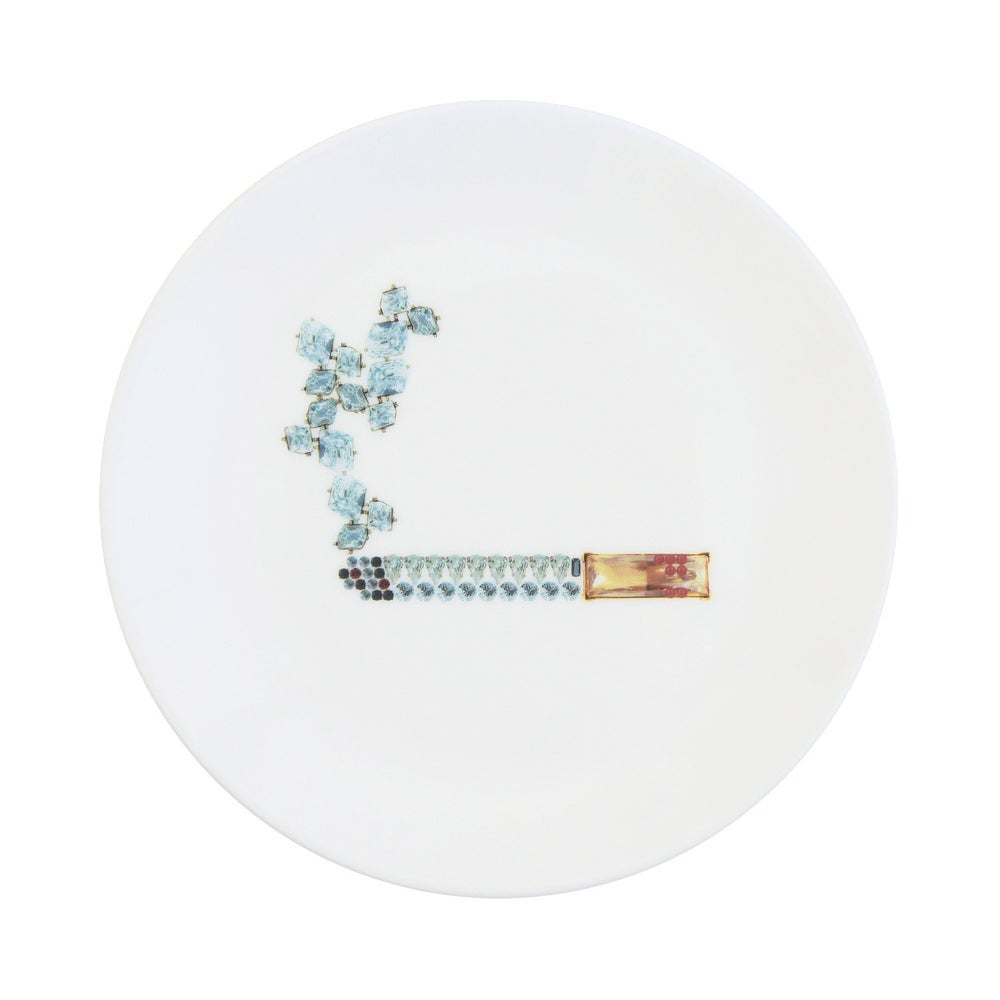 Image of CIGARETTE Fine Bone China Plate (Medium)