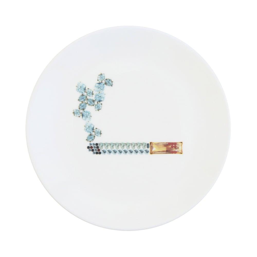 Image of CIGARETTE Fine Bone China Plate (Medium)