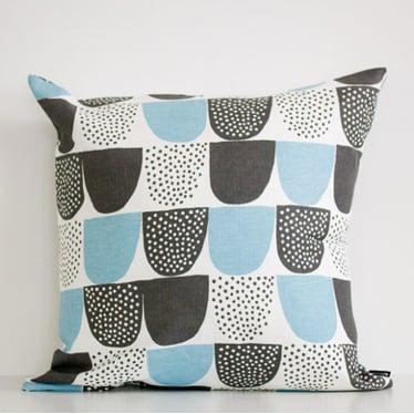 Image of Kauniste - Sokeri cushion cover - blue (aqua)