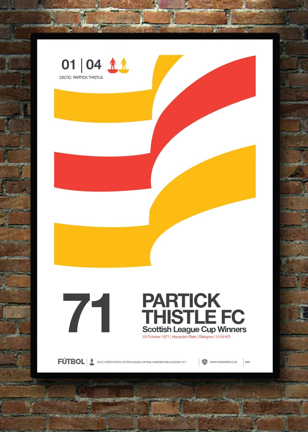 Image of PARTICK THISTLE 1971 LEAGUE CUP FINAL