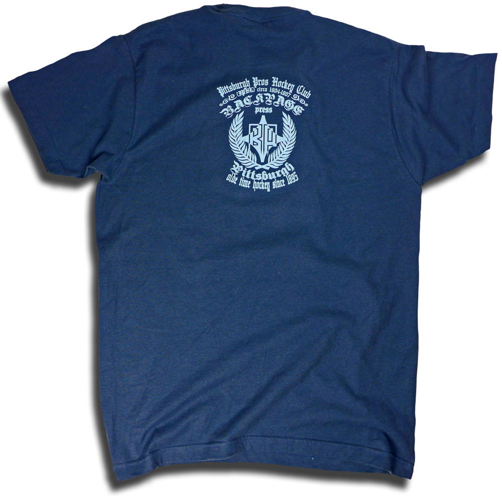 "Image of ""Pittsburgh Professional Hockey Club"" aka Pittsburgh Pro's custom hockey tee"