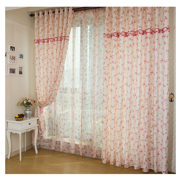 Image of How to choose the satisfied floral curtains for our room?