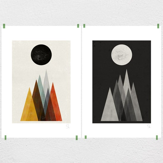 Image of Eclipse Set of Two Prints