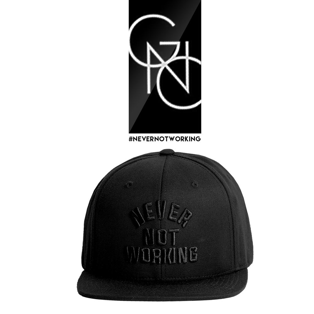 Image of Never Not Working Snapback (Black/Black)