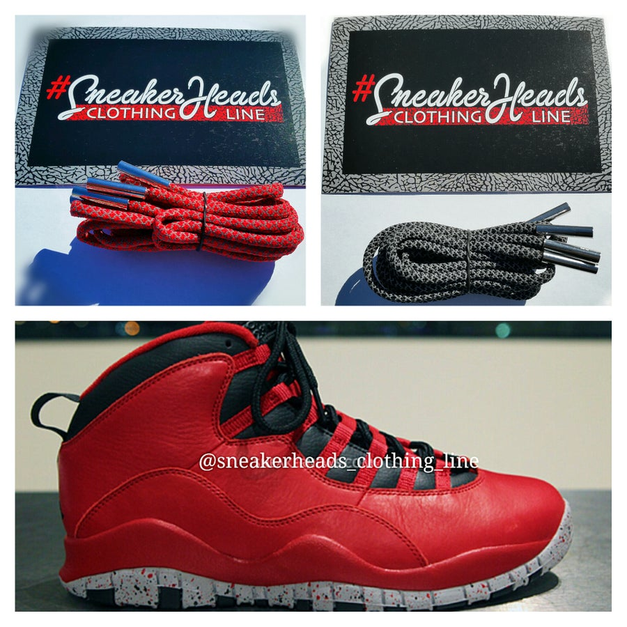 """Image of Exclusive """"Bulls Over Broadway"""" Custom Rope Laces Pack"""