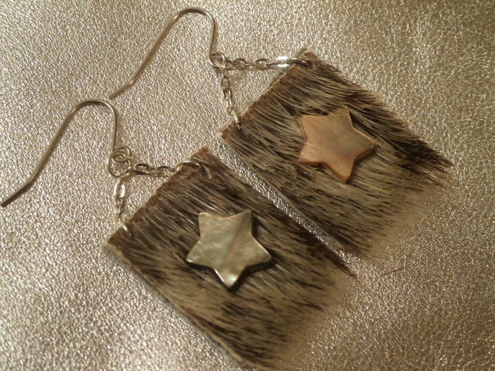 Image of Stars and Sealskin Earrings