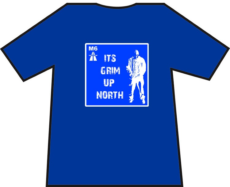 Image of It's Grim Up North Football Casuals, Ultras Hooligans T-shirts. Brand New.