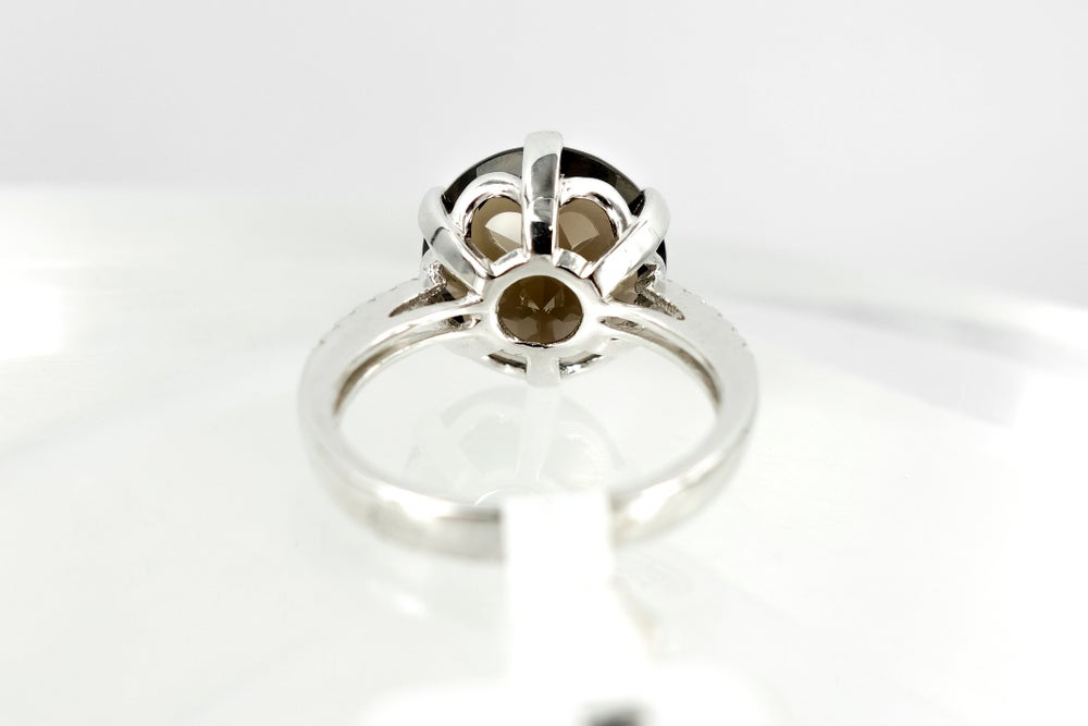 Image of Smokey quartz and diamond cocktail ring