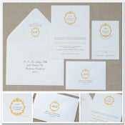 Image of Quote & Wreath Wedding Invitations