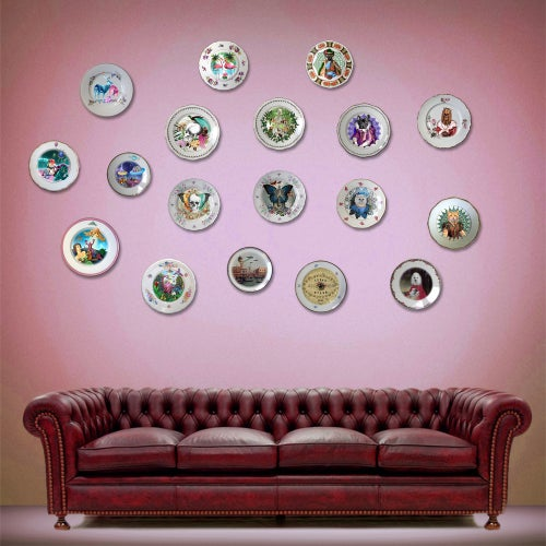 Image of 80s Puppy  - Vintage Porcelain Plate - #0657